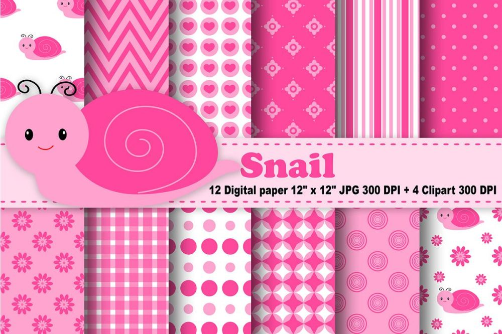 medium resolution of snail digital paper bugs background flowers pattern insects background printables snail