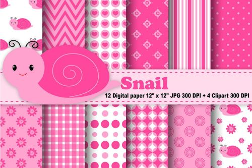 small resolution of snail digital paper bugs background flowers pattern insects background printables snail