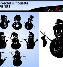 snowman silhouette svg clipart snowman christmas snowman example image 1 [ 1200 x 800 Pixel ]