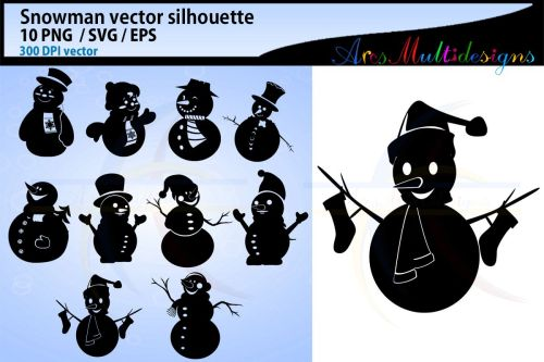 small resolution of snowman silhouette svg clipart snowman christmas snowman example image 1