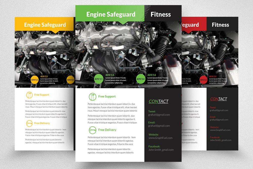 auto repair mechanic flyer