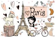paris clip art illustrations