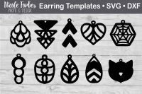 Faux Leather Earring Templates SVG Cut File