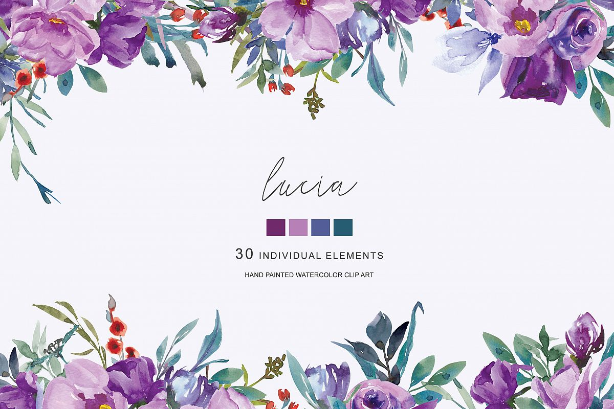 hight resolution of purple flower clipart