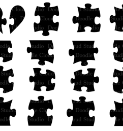 jigsaw puzzle svg puzzle piece svg files for silhouette cameo and cricut puzzle clipart [ 1158 x 772 Pixel ]