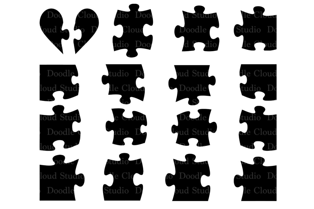 medium resolution of jigsaw puzzle svg puzzle piece svg files for silhouette cameo and cricut puzzle clipart