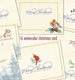 watercolor christmas card clipart example image 1 [ 1158 x 772 Pixel ]