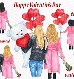 valentines day girls clipart best friend clipart example image 1 [ 1162 x 774 Pixel ]