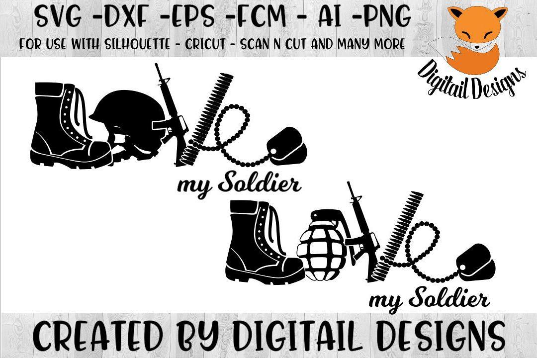 Download Soldier Love SVG - Silhouette - Cricut - Scan n Cut ...