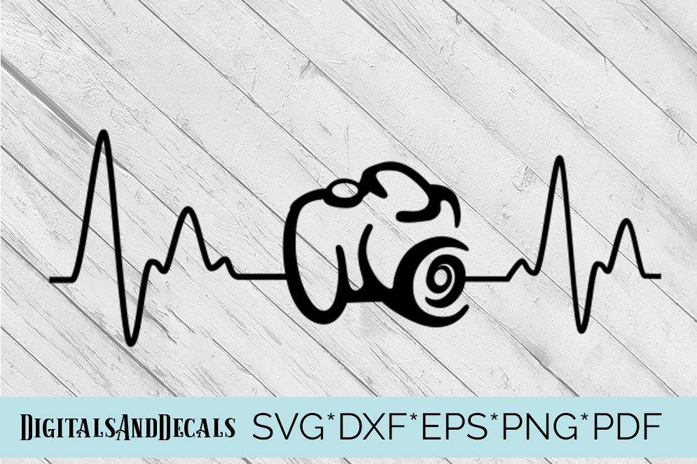 Download Camera Heartbeat SVG Cutting File