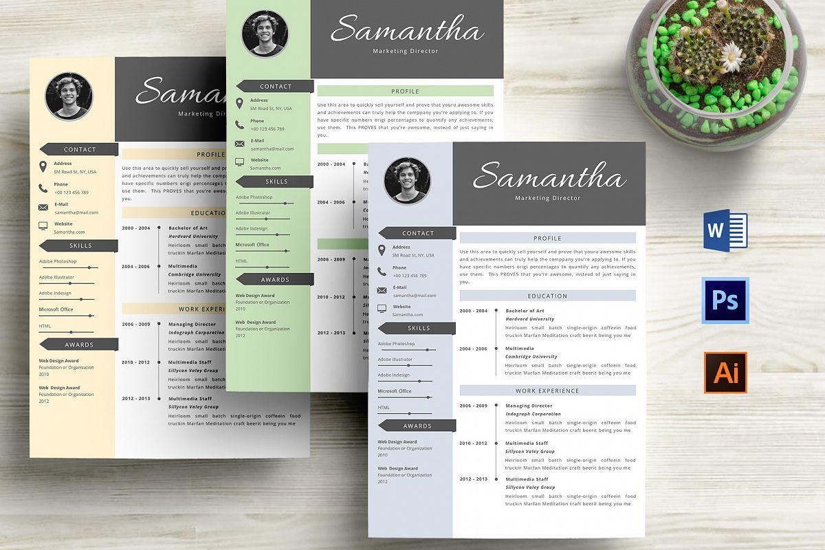 Graphic Resume Templates Word