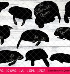 manatee silhouette clipart clip art ai eps svgs jpgs pngs  [ 1200 x 800 Pixel ]
