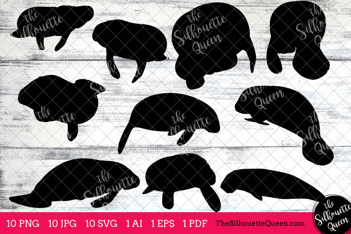 hight resolution of manatee silhouette clipart clip art ai eps svgs jpgs pngs