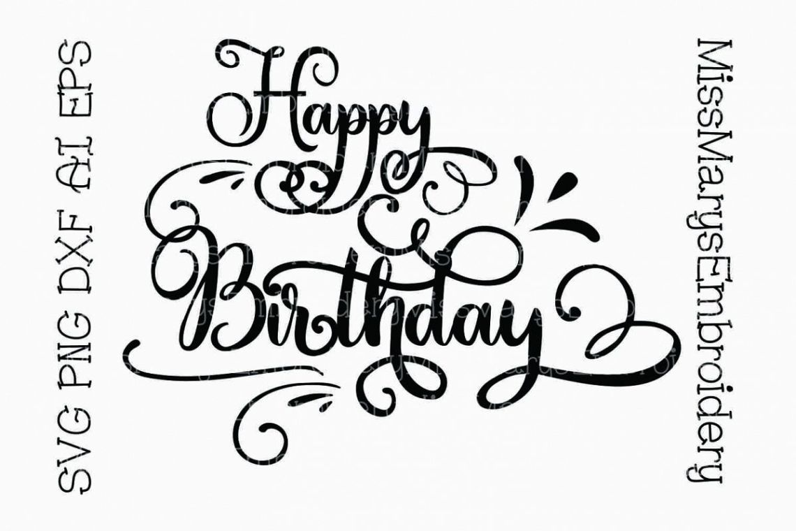 Download Happy Birthday SVG Cutting File PNG DXF AI EPS