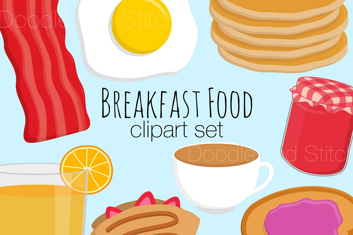 hight resolution of breakfast food clipart illustrations example image 1