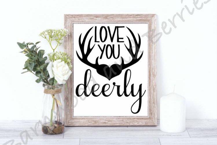 Download Love You Deerly SVG (54481) | SVGs | Design Bundles