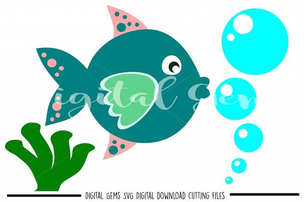 Fish Svg Dxf Eps Files