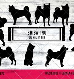 shiba inu dog svg files cricut silhouette clip art vector example image 1 [ 1200 x 800 Pixel ]