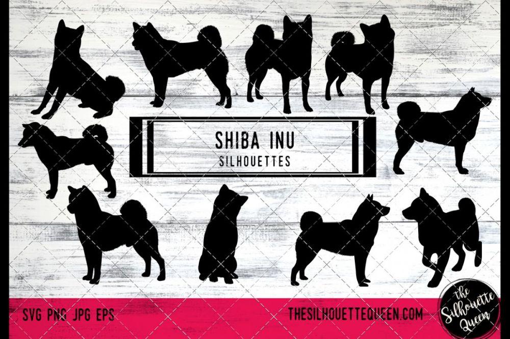 medium resolution of shiba inu dog svg files cricut silhouette clip art vector example image 1