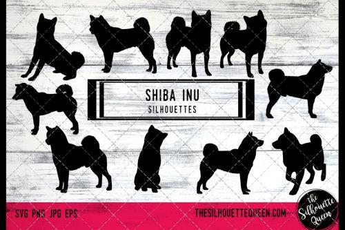 small resolution of shiba inu dog svg files cricut silhouette clip art vector example image 1