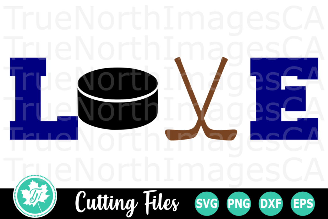 Download Love Hockey - A Sports SVG Cut File