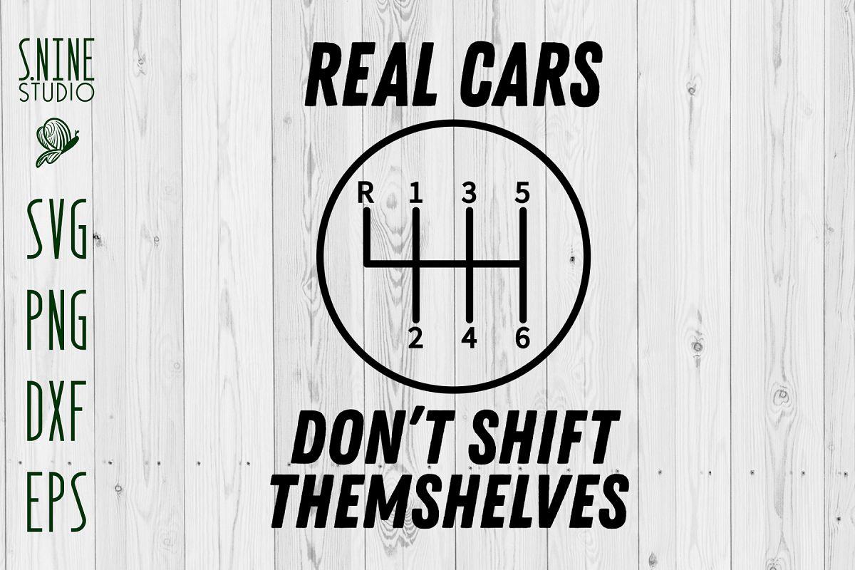 Real Car Don't Shirt Manual Transmission Vintage Retro Car
