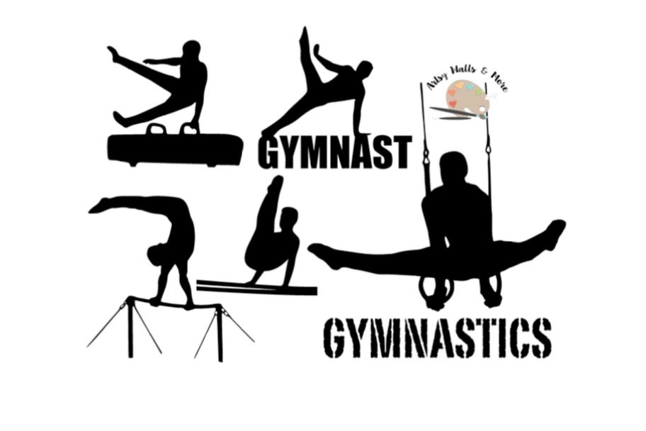 Male Gymnastics svg cut file male gymnast silhouette