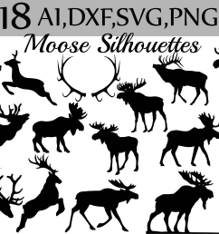 svg moose clipart example image 1 [ 1162 x 774 Pixel ]
