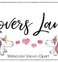 unicorn clipart watercolor clipart rainbow clipart cute cartoon unicorn love clipart [ 1158 x 772 Pixel ]