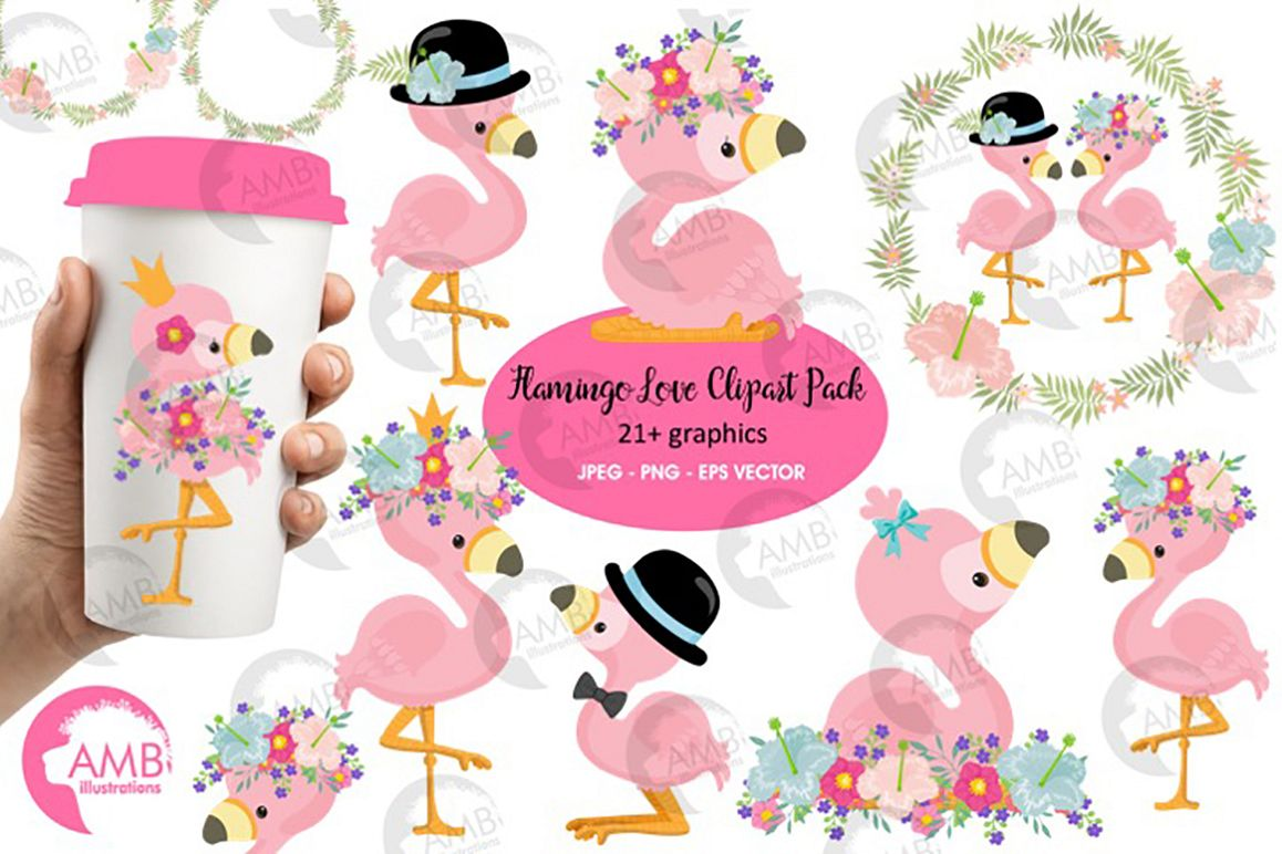 hight resolution of flamingo clipart flamingo love clipart amb 2472 example image 1