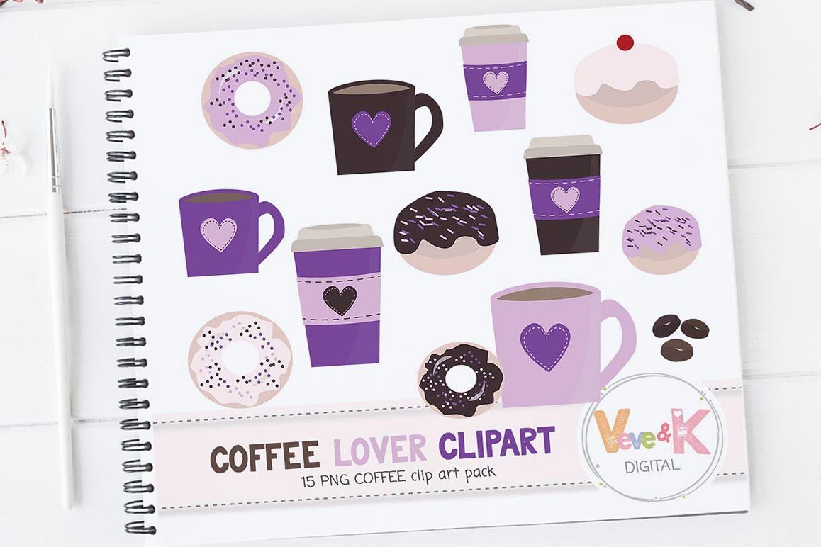 hight resolution of donuts and coffee clipart set coffee clipart donuts clipart coffee lover food