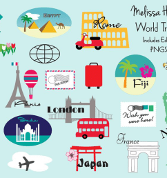 world travel clipart example image 1 [ 1200 x 800 Pixel ]