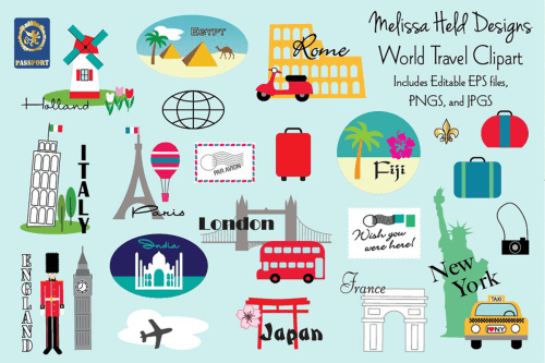 small resolution of world travel clipart example image 1