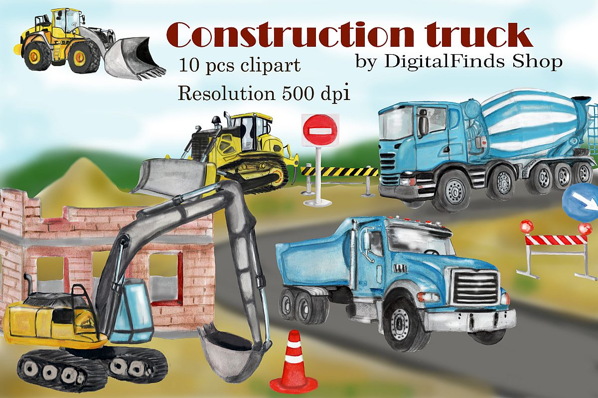 hight resolution of construction truck clipart dump truck excavator clipart example image 1