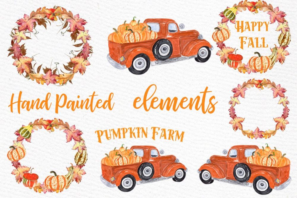 medium resolution of pumpkin farm clipart truck with pumpkins thanksgiving quote example image 1