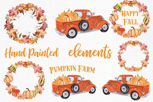 small resolution of pumpkin farm clipart truck with pumpkins thanksgiving quote example image 1