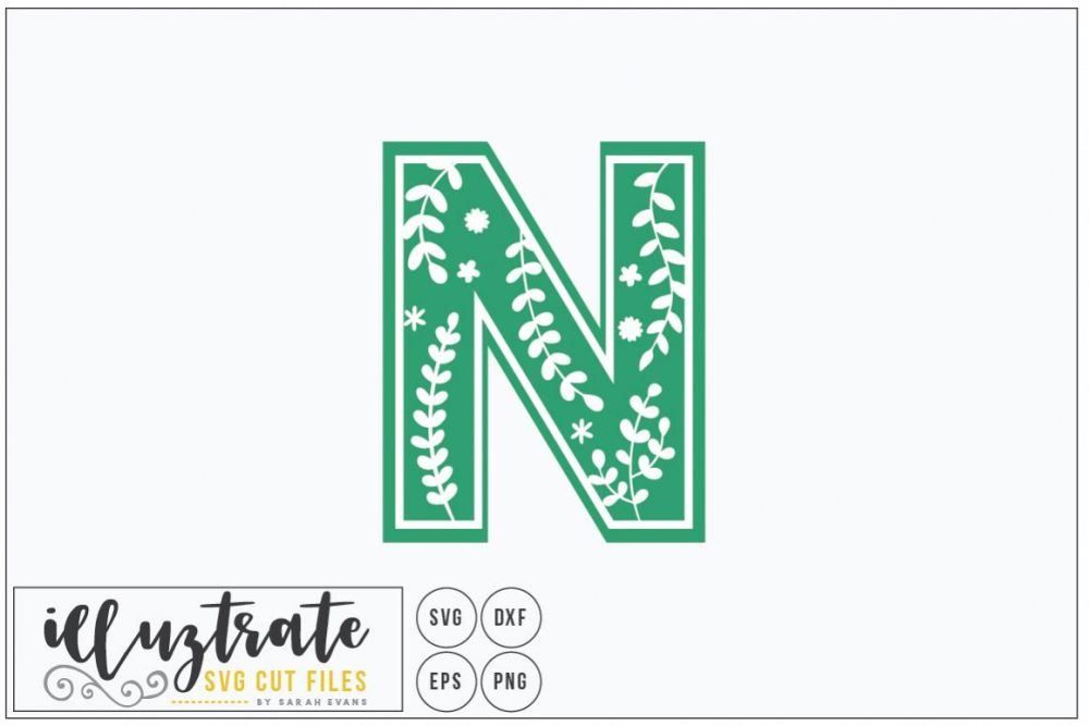 medium resolution of letter n svg alphabet dxf cut files vector clipart example image 1