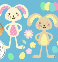 easter bunny illustrations commercial use clipart example image 1 [ 1200 x 800 Pixel ]