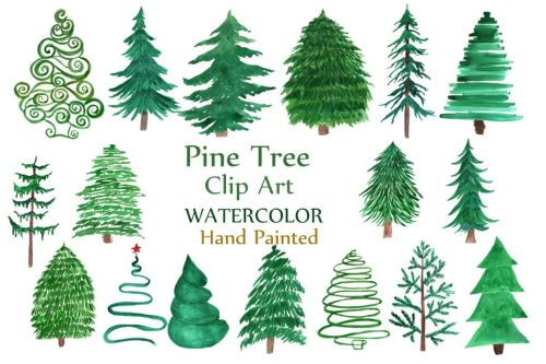small resolution of watercolor pine trees clipart example image 1