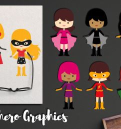 more girl superhero clipart graphics superheroes girls example image 1 [ 1200 x 800 Pixel ]