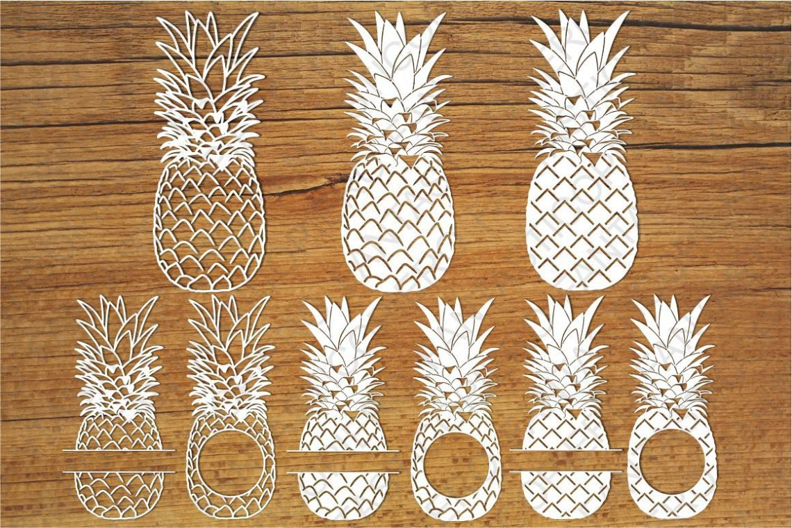 Download Pineapples SVG files for Silhouette Cameo and Cricut.