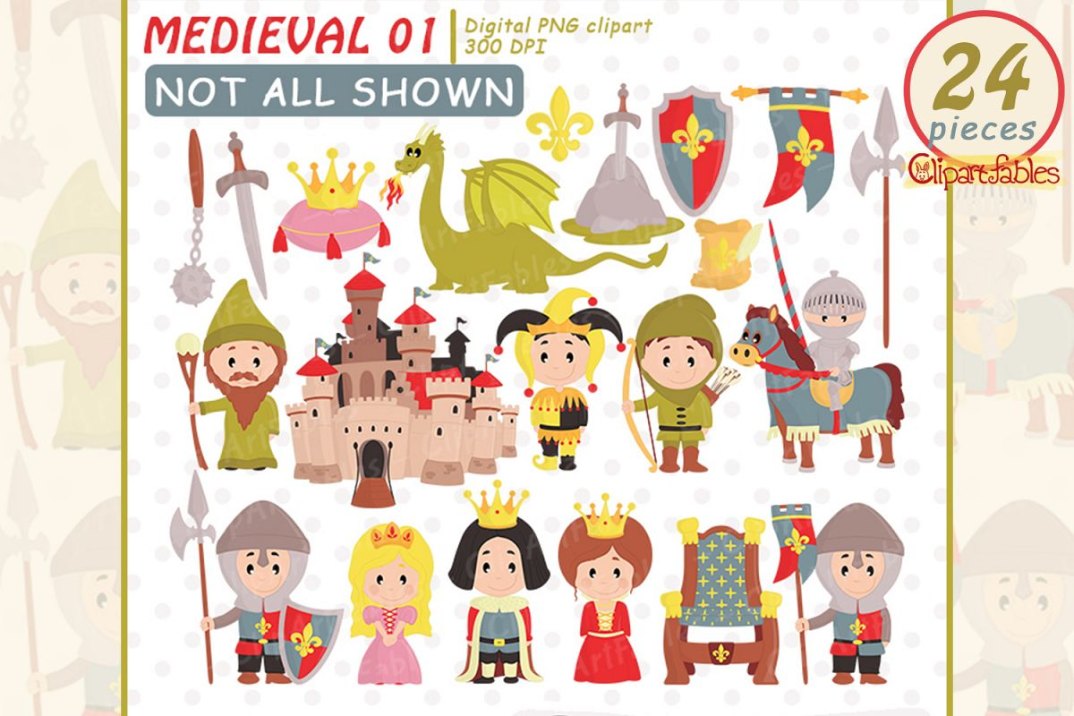 hight resolution of medieval clipart fairy tale clip art cute dragon design example image 1