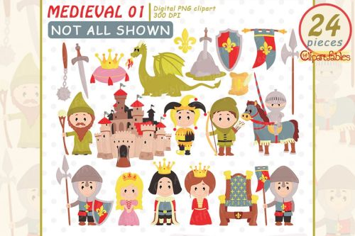 small resolution of medieval clipart fairy tale clip art cute dragon design example image 1
