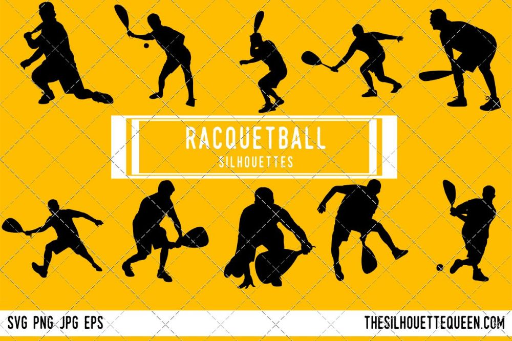 medium resolution of racquetball silhouette racquet ball player clipart racquetball sports vector svg png