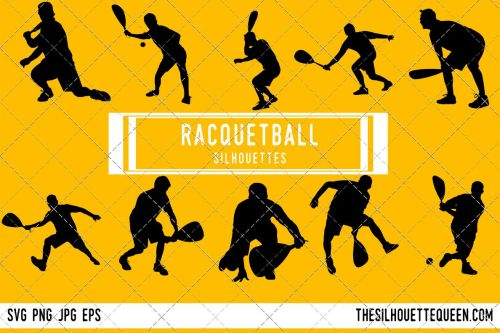 small resolution of racquetball silhouette racquet ball player clipart racquetball sports vector svg png