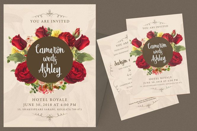 Fl Wedding Invitation Card 172726