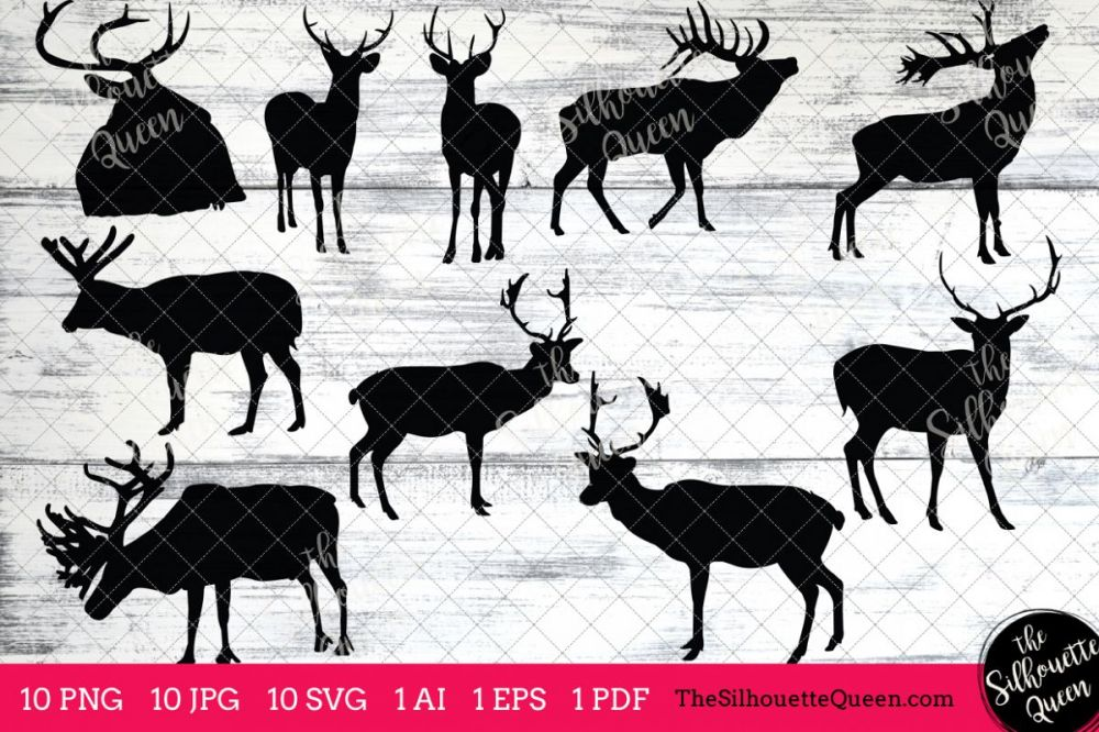 medium resolution of elk silhouettes clipart clip art ai eps svgs jpgs pngs