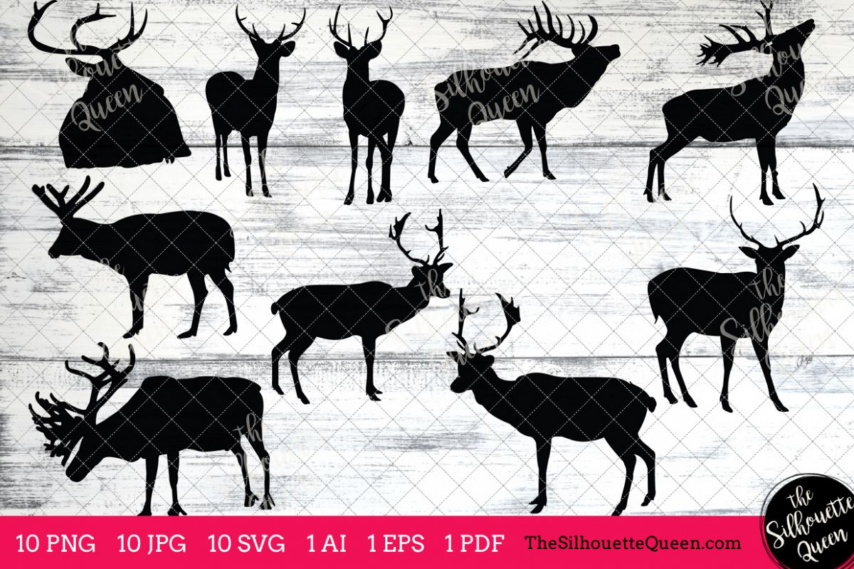 hight resolution of elk silhouettes clipart clip art ai eps svgs jpgs pngs