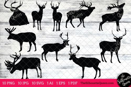 small resolution of elk silhouettes clipart clip art ai eps svgs jpgs pngs