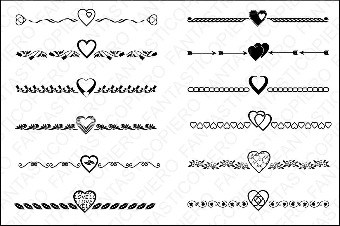 text dividers valentine s